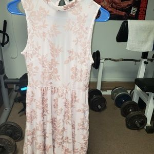 Forever 21 pink and floral print dress